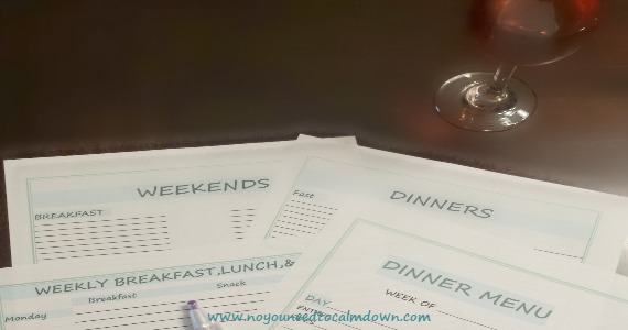 Easy Meal Planning – w/Free Printables