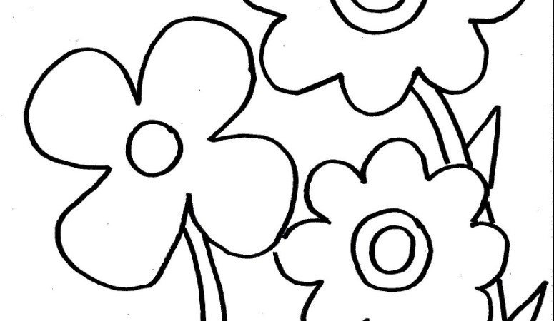 Spring Flowers Coloring Page for Kids – Free Printable
