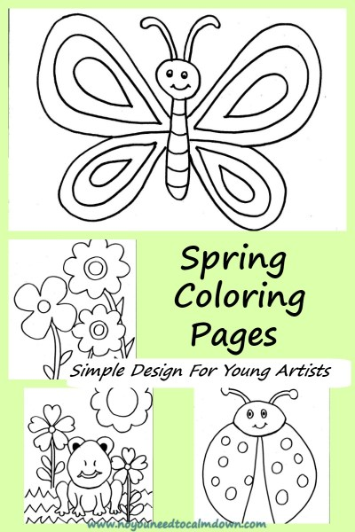 Spring Coloring Pages For Kids - Free Printable