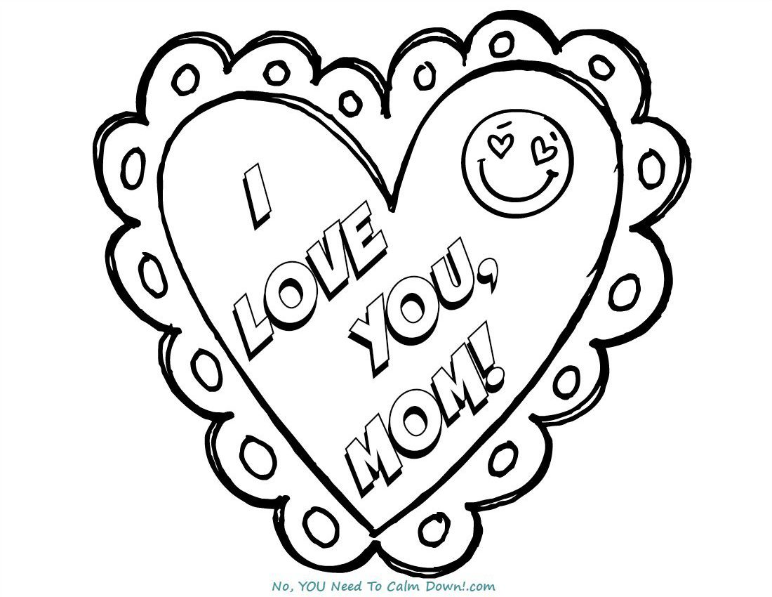 I Love You Mom Mother S Day Coloring Page
