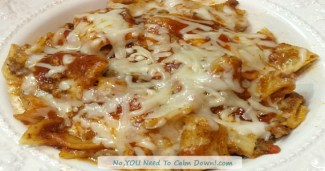 Spaghetti Casserole with Marinara and Cheesy White Sauce