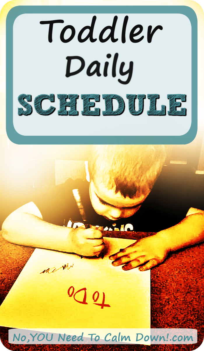 How do you plan a 2 yr old's daily schedule? With these things in mind....