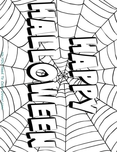 Happy Halloween coloring page for kids. This is a free printable that has a simple design for young artists! #halloween #kidscoloringpage # freeprintable