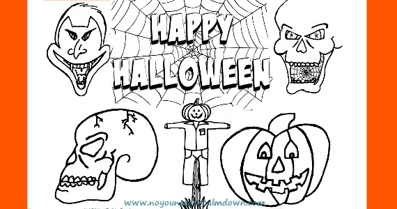 halloween coloring pages for kids free printable