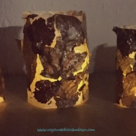 Leaf Tealight Lantern Craft