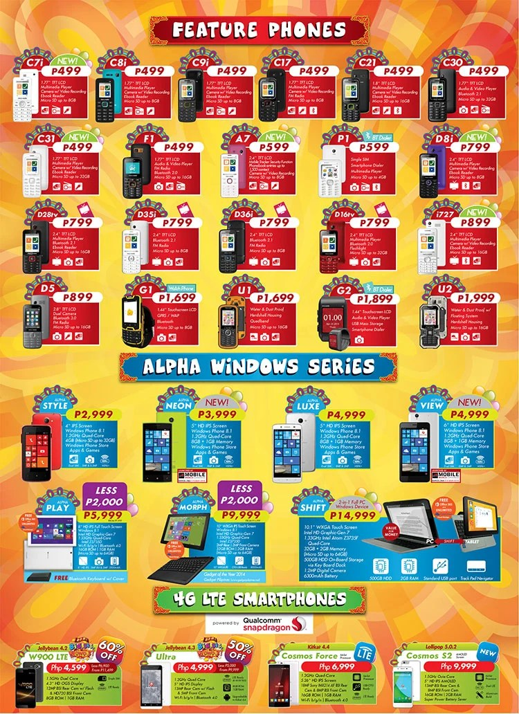 Cherry Mobile Price Tablet List