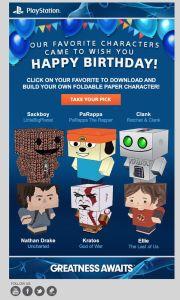 Sony Birthday Present