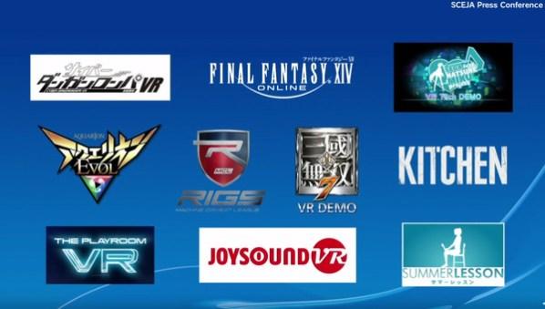 PlaystationVR Games