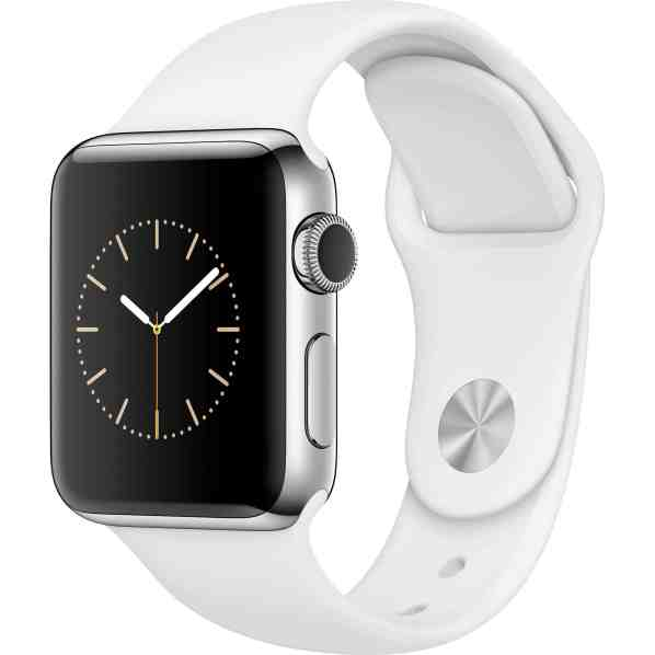Apple Watch Series 2 42mm Stainless Steel Case Silver White Seminovo Grade A+