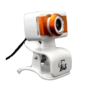 Webcam DWC Laranja 16MP com Microfone