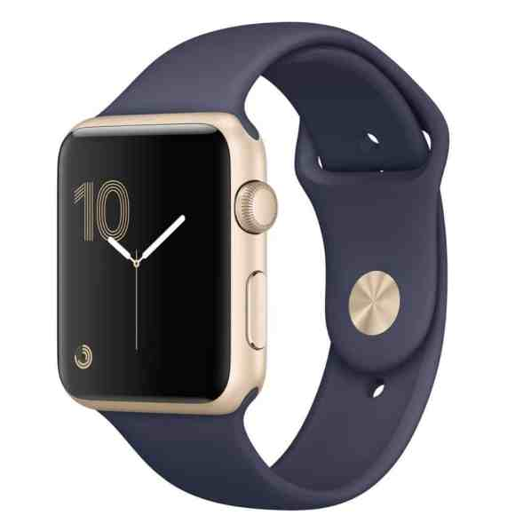 Apple Watch Series 2 42mm Gold Aluminium Case with Midnight Blue Sport Band