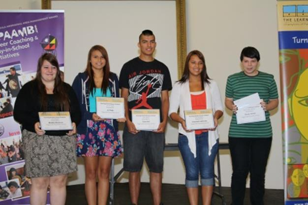 Former Turning Points award winners at the Woodland Cultural Centre in Brantford, Ontario.