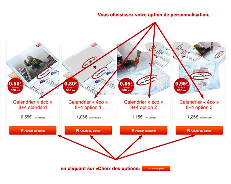 tutoriel de personnalisation en ligne de calendrier de sapeur-pompier 42, npc-calendrier.fr