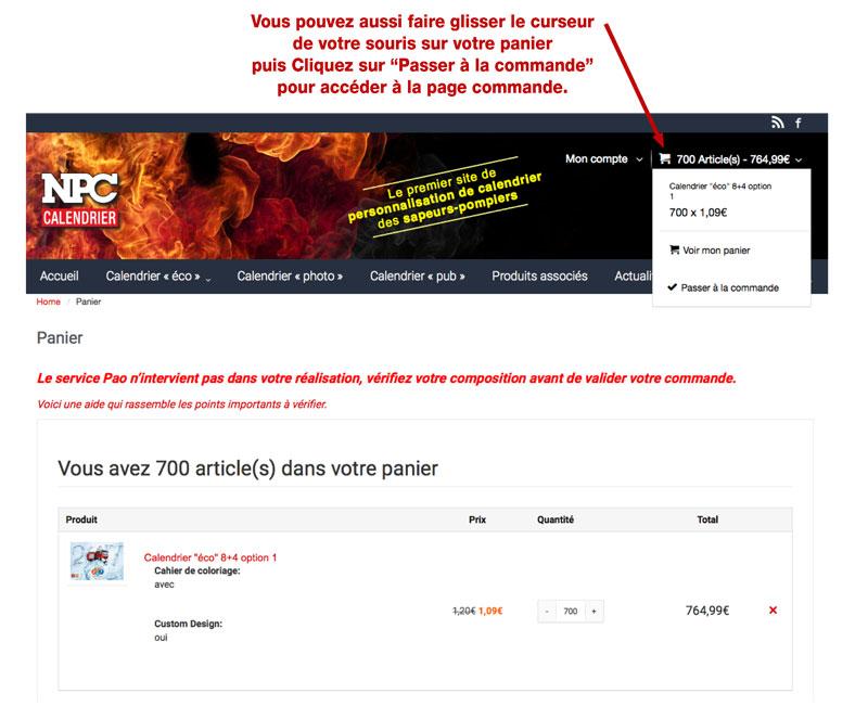 tutoriel de personnalisation en ligne de calendrier de sapeur-pompier 20, npc-calendrier.fr