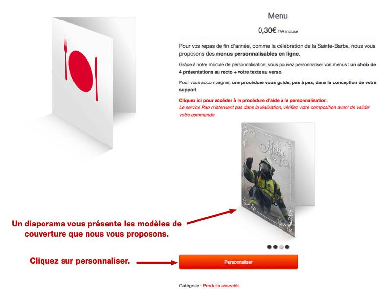 tutoriel de personnalisation en ligne de calendrier de sapeur-pompier 3, npc-calendrier.fr