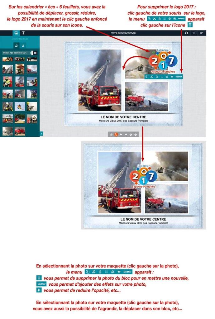 tutoriel de personnalisation en ligne de calendrier de sapeur-pompier 8, npc-calendrier.fr