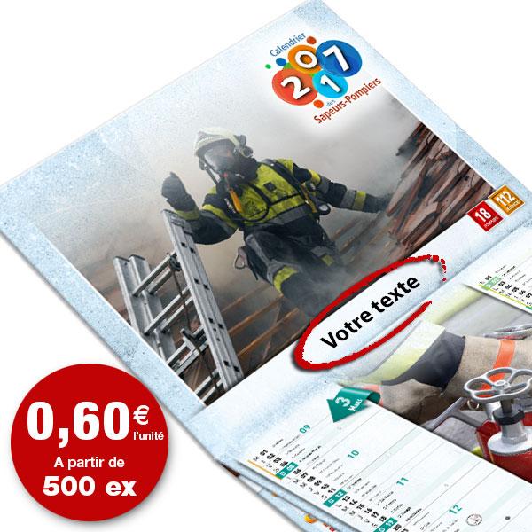 calendrier de pompier personnalisé texte et photo, npc calendrier 6f standard