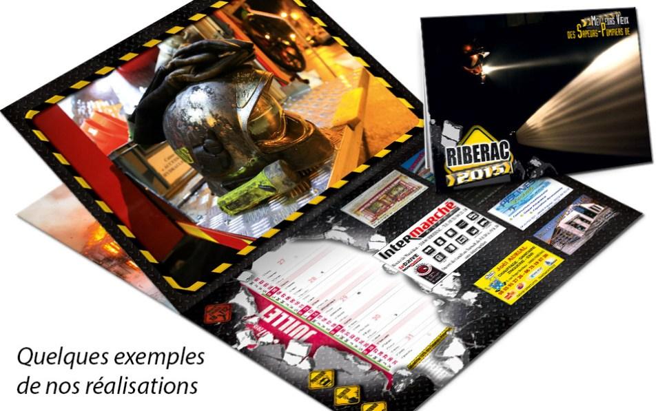 npc-calendrier.fr, calendrier des sapeurs-pompiers personnalisés et personnalisables, riberac, 2015