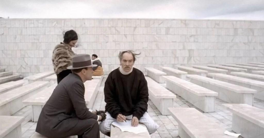 Marcello incontra il padre in una scena chiave de Il Conformista