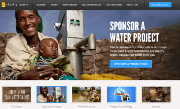 CharityWaterAsk 365x221 Three Simple Ways to Improve Your Online Fundraising