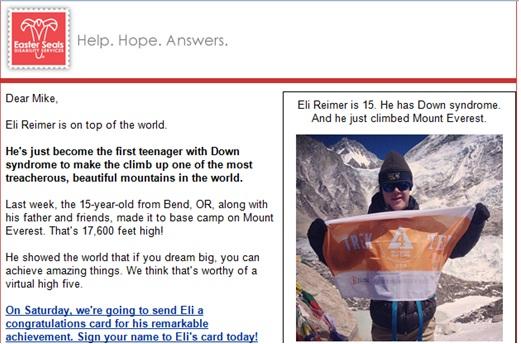 3 es celebrate your missions accomplishments 9 Underutilized Emails that Improve Donor Retention