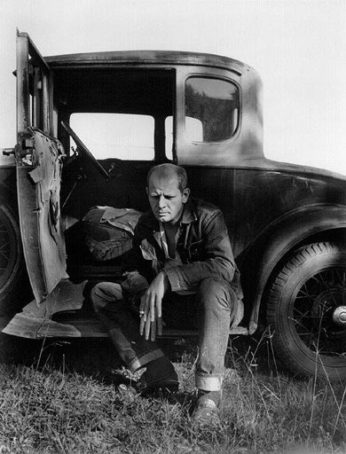 Jackson Pollock by his car. Photo by Hans Namuth