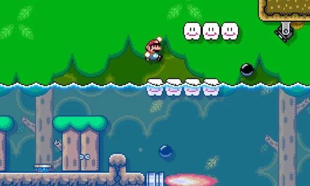 Come creare livelli con acqua, lava e veleno in Super Mario Maker 2