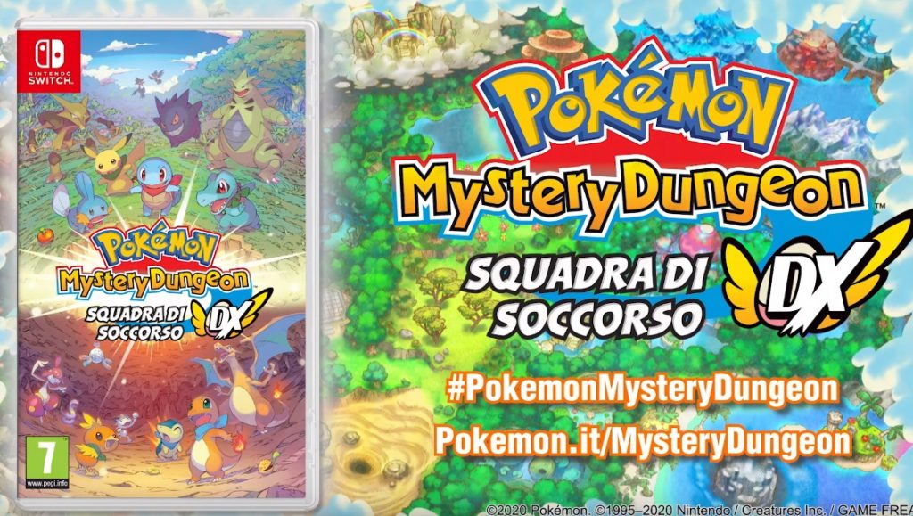 Pokémon Mystery Dungeon Squadra di Soccorso DX annunciato ufficialmente per Nintendo Switch