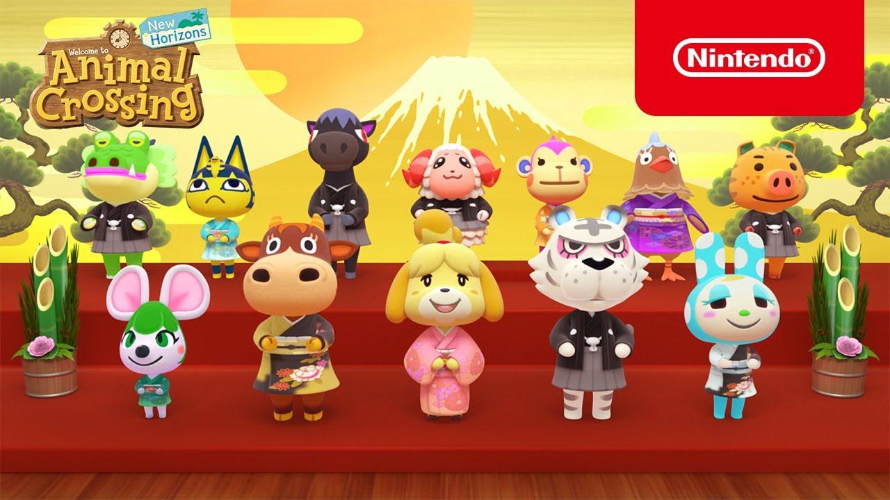 Animal Crossing: New Horizons, pubblicato un nuovo trailer per festeggiare l'arrivo del 2021