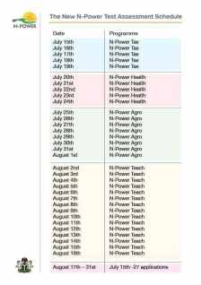 Npower Batch c recruitment Assessment test time table is out get it here
