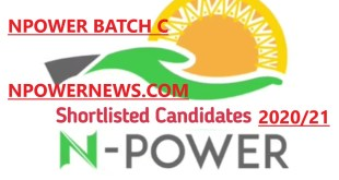 Npower Batch C Full List of Shortlisted Candidates 2020 in N-Agro Health Teach Tech