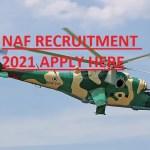 NAF Nigerian Air force Airmen & Women DSSC Recruitment