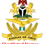 Nigerian Air Force Shortlisted Names for BMTC Recruitment 2021