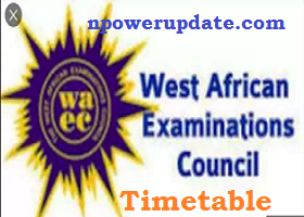 WAEC new Examination Timetable August/September 2020 is out