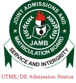 Check 2020/2021 UTME/DE Admission Status on CAPS:  www.jamb.org.ng