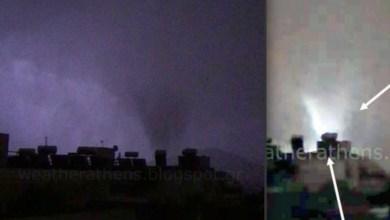 Photo of Κάμερα κατέγραψε τον ανεμοστρόβιλο που σάρωσε το Νέο Ηράκλειο (Βίντεο)