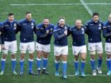 Natwest Sei Nazioni 2018, Roma, stadio Olimpico 04/02/2018, Italia v Inghilterra, Azzurri all'Inno.