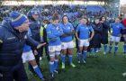 Natwest Sei Nazioni Donne 2018, Dublino, Donnybrook 11/02/2015, Irlanda Donne v Italia Donne, l'allenatore Andrea di Giandomenico alla fine del match.