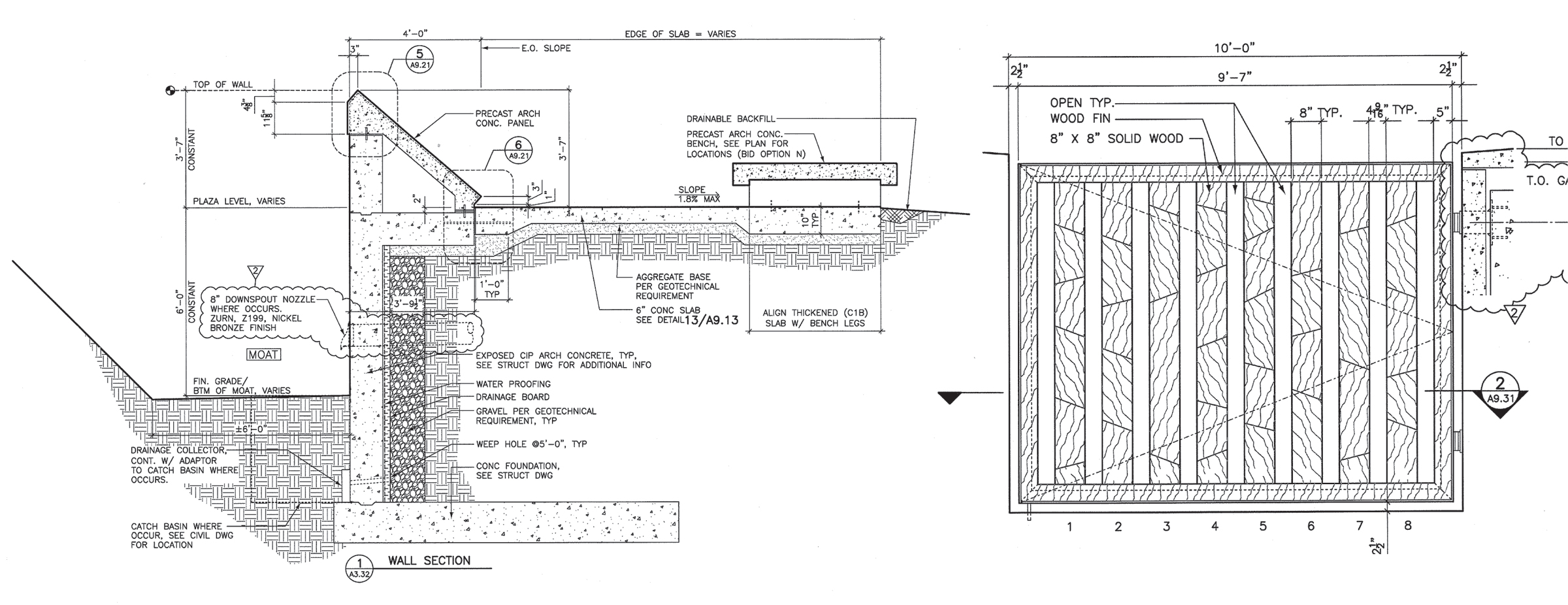 Retaining Wall Drainage Drawing