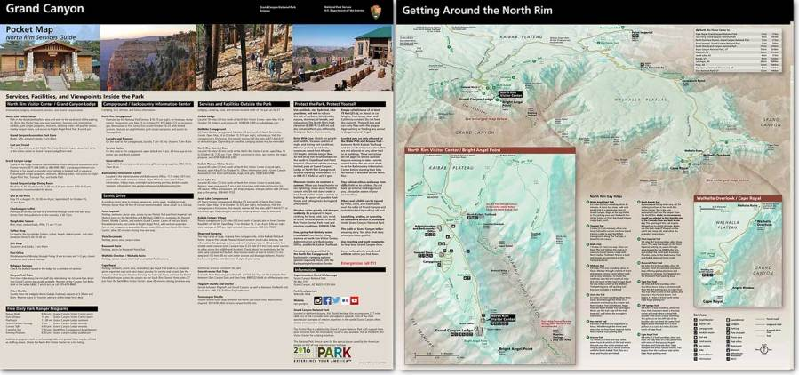 Maps   Grand Canyon National Park  U S  National Park Service