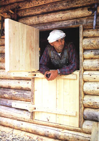 The dutch door on Dick Proenneke's cabin is a unique architectural touch.