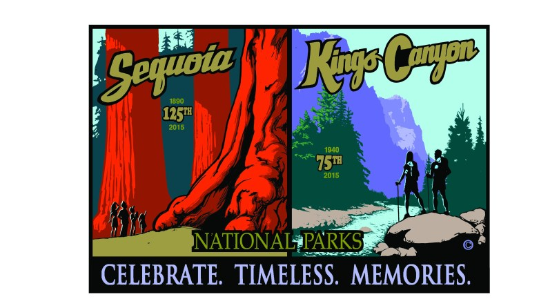 Anniversary logos for Sequoia and Kings Canyon National Parks, 2015