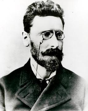 Um retrato de Joseph Pulitzer.
