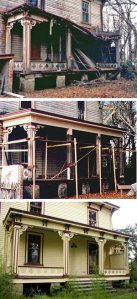 Preservation Brief 45  Preserving Historic Wood Porches Partially collapsed porch on a frame house