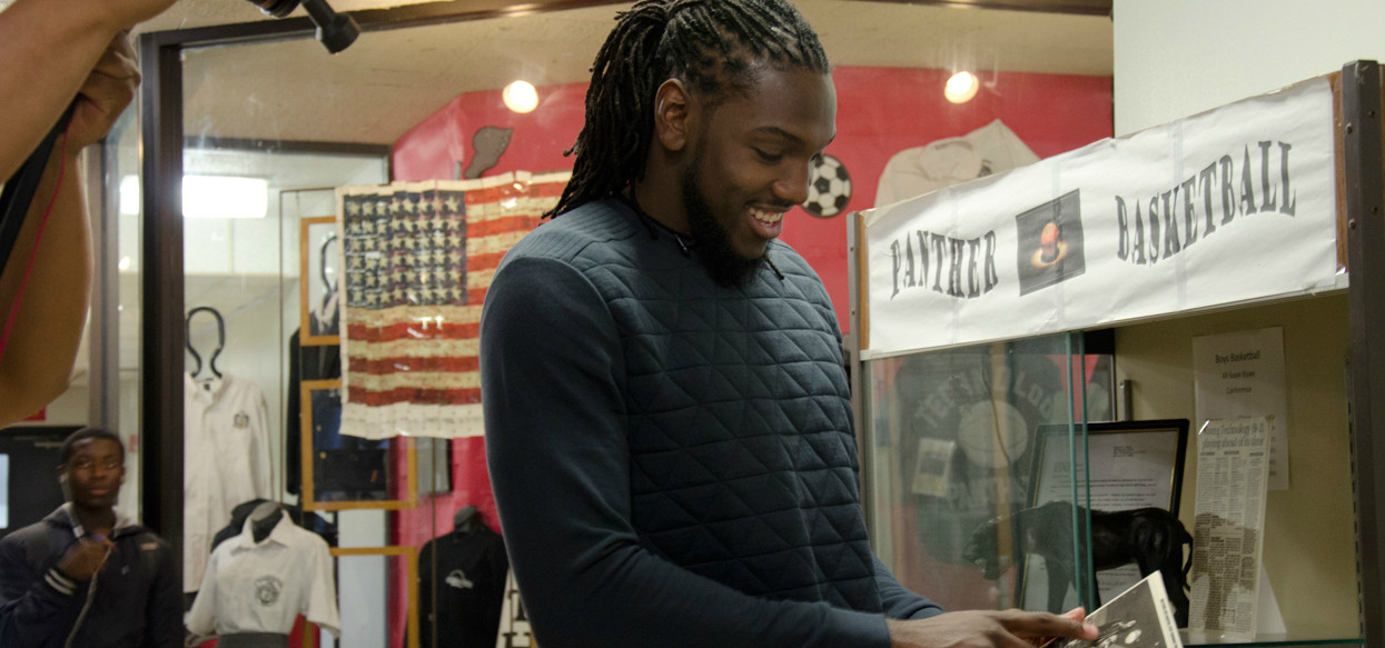 Photos of Kenneth Faried's Visit