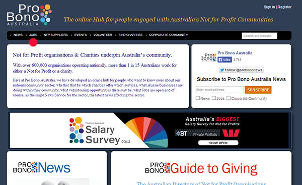 probono australia nonprofit jobs