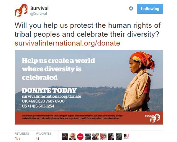 Twitter Image Survival International