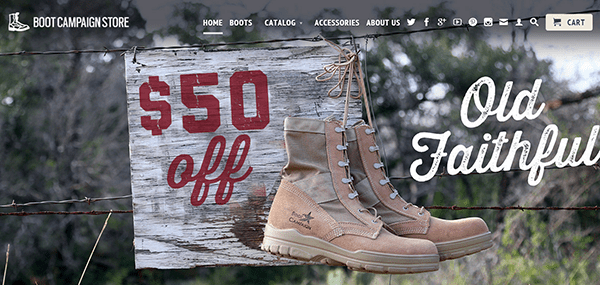 Boot Campaign Store