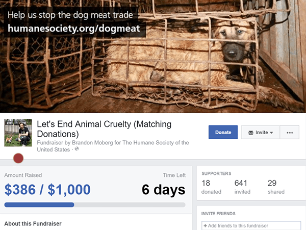 facebook fundraiser 3