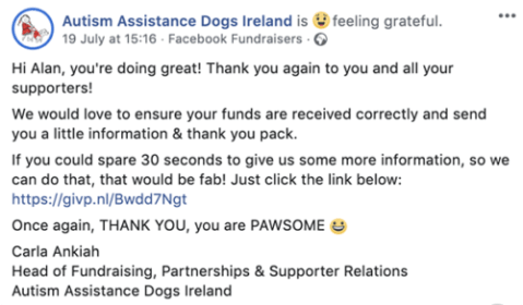 The Best Way to Thank Your Nonprofit's Facebook Fundraisers